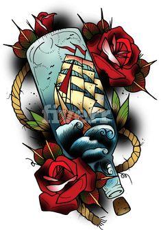 Neo Tattoo, Moth Tattoo, Tatoo Art, Tattoo Black, Mandala Tattoo, Traditional Tattoo Flowers, Traditional Tattoo Design, Traditional Sailor Tattoos, Traditional Tattoo Flash Art