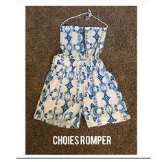 Choies romper 🖊D e s c r i p t i o n 🖊 This romper is perfect for a hot day. It has a super cute tie around the neck look as well and a bow tie around the waist. As well as an open back.   ⚫️C o n t e n t⚫️ Cotton   ✂️M e a s u r e m e n t s ✂️ Size small  🔘C o n d i t i o n 🔘 New with tags   👖👚P a i r W i t h 👚👖 Sandals   🚫 No trades 💕 Reasonable offers welcome  💰 Bundle discount offered  📬 Ships in 1-2 Choies Other
