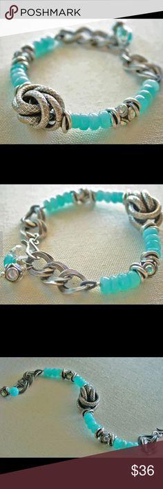 NWOT Hand Made Peruvian Opal Bracelet NWOT Handmade Peruvian Opal Bracelet from Etsy. Jewelry Bracelets