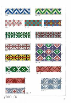 """The album """"Knitter's Home 3000 - The Chinese book of jacquard knitting patterns page 58 Tapestry Crochet Patterns, Bead Loom Patterns, Beading Patterns, Cross Stitch Patterns, Knitting Charts, Knitting Stitches, Knitting Patterns, Tablet Weaving Patterns, Fair Isle Chart"""