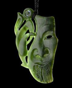 New Zealand Maori Raukaraka Greenstone Pounamu Flower Jade