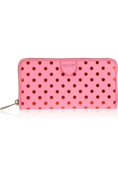 Marc Jacobs|Polka-dot leather wallet Saw this in yellow with blue polka dots in Marie Claire... so cute!