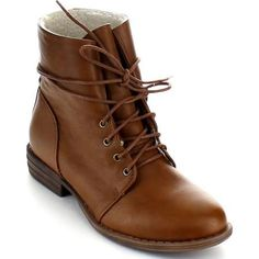brown lace up leather ankle boots