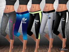 The Sims Resource: Ladies Fitness Leggings by Saliwa • Sims 4 Downloads
