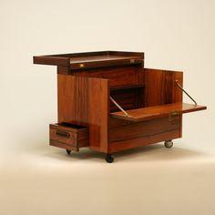 Mini bar in rosewood designed by Rolf Hesland in the 1960´s for Bruksbo Tegnekontor, Norway