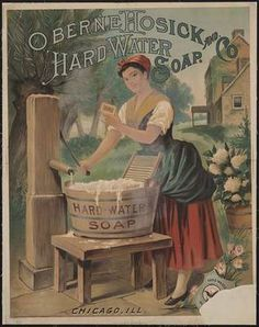 vintage soap and laundry posters