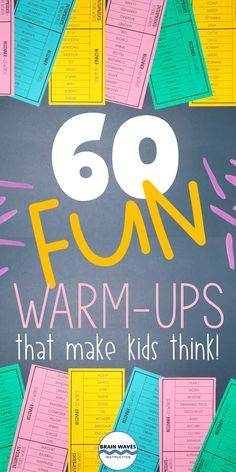 These no-prep, no-copy daily warm-ups are ready for your students. Each warm-up is designed to get kids thinking. This collection includes 60 different activities for middle school warm-ups. They work great as bellringers, warm-ups, lesson extenders, and even test prep. Your students will love the challenges that help them practice listening, memory, inferring, and reasoning. You'll love how simple they are to share with students! Language Arts Worksheets, Kindergarten Worksheets, Star Family, Brain Waves, Inference, Fifth Grade, Test Prep, Learning Games, Middle School