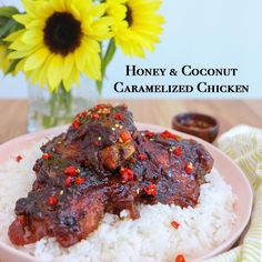 Honey and Coconut Caramelized Chicken recipe from the Little Viet Kitchen! It's… Honey and Coconut Caramelized Chicken recipe from the Little Viet Kitchen! It's to die for! Chicken Recipes Video, Healthy Chicken Recipes, Vegetarian Recipes, Cooking Recipes, Shrimp Recipes, Duck Recipes, Asian Recipes, Honey Recipes, Breakfast