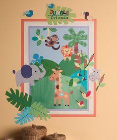 Love this Jungle Friends Wall Play Decal Set on #zulily! #zulilyfinds