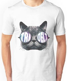 Tri Delta Cat Galaxy Unisex T-Shirt