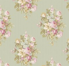 Tilda - Happiness is Homemade - Sofia Floral in Light Green