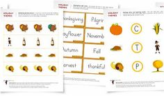 FREE Thanksgiving Worksheets for Kids: Math, Writing, and Reading