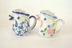 Lot of 2 Individual Creamers Rooster Creamers by LizzieTishVintage, $13.00