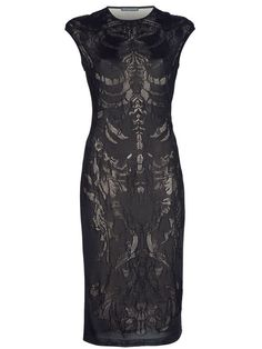 Alexander McQueen Lace Skeleton dress