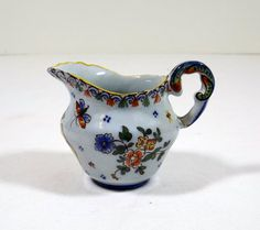 Small Porcelain Cream Jug or Pitcher by KatsCache on Etsy, $18.95