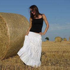 Dlouhá sukně bílá vel. S, M, L Lace Skirt, Skirts, Fashion, Moda, Fashion Styles, Skirt, Fashion Illustrations, Gowns