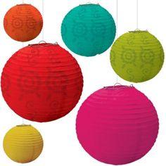 Bollywood Theme: Fiesta Paper Lanterns - Party City