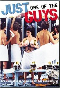 Though marketed as a raunchy teen sex comedy à la Porky's, Just One of the Guys is an amusing and well-acted comic riff on gender roles. Believing that she's lost a journalism contest because she's a woman, high school student Joyce Hyser disguises herself as a boy in order to see how the other half lives. Her investigation leads her to discover some interesting truths about how men and women treat each other in social and romantic situations.