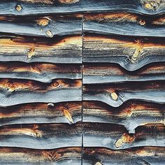 Waney edged and well aged siding