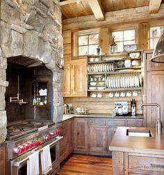 Оригинальное оформление кухни в кантри стиле