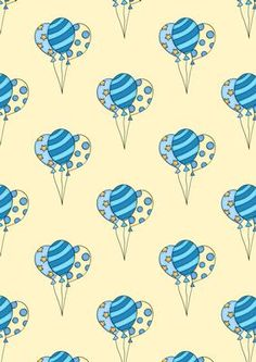 Balloons 1 Background on Craftsuprint designed by Sandra Carlse - A great backing paper for birthday celebrations. - Now available for download!