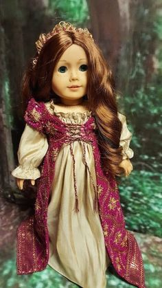 """""""Renaissance Royale"""" for AG dolls - renaissance gown, beaded medieval sequined gown by TheDollyDama on Etsy $95.00"""