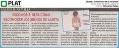 Clínica San Felipe: Causas y tratamiento de la escoliosis en el diario Extra de Perú (02/10/16)