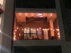 Apartment Halloween Decorating Ideas Vintage - our apartment patio decorations Halloween Decorations Apartment, Fall Apartment Decor, Outside Halloween Decorations, Apartment Balcony Decorating, Spooky Decor, Apartment Balconies, Halloween Home Decor, Halloween House, Halloween Ideas