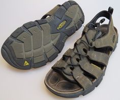 KEEN Daytona Brown Leather w/ Leather Lining Hiking Open Toe Sandals Men's US 9 #KEEN #SportSandals