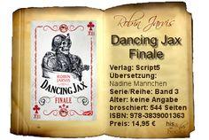 """""""Dancing Jax – Finale"""" von Robin Jarvis ist blutiger und noch brutaler als seine Vorgänger. Gewagte Aktionen und bizarre Charaktere konnten mich wiederum überzeugen.   Alle, die gut durchdachte Vernetzungen mögen, dabei bei blutigen und gewalttriefenden Szenen nicht das Handtuch werfen und Charaktere leiden sehen können, sind hier absolut richtig. Fans von """"Dancing Jax – Auftakt"""" und """"Dancing Jax – Zwischenspiel"""" haben sowieso keine Chance, """"Dancing Jax – Finale"""" zu entkommen!"""