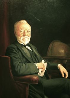Andrew Carnegie as he appears in the National Portrait Gallery in Washington DC. Founder of the Carnegie Institution for Science - Wikipedia, the free encyclopedia Andrew Carnegie, Pittsburgh, The Gospel Of Wealth, Carnegie Library, Carnegie Hall, National Portrait Gallery, Gilded Age, Rich People, World History