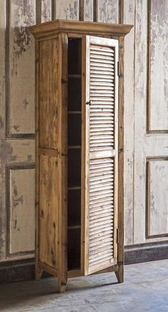 Tall Shutter Cabinet - The Effective Pictures We Offer You About shutters repurposed christmas A quality picture can tell - Diy Garden Furniture, Pallet Furniture, Furniture Projects, Rustic Furniture, Furniture Makeover, Antique Furniture, Modern Furniture, Furniture Outlet, Furniture Design
