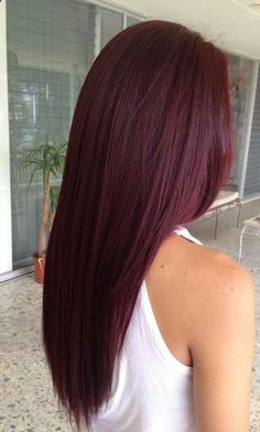 12 Hottest Mahogany Hair Color Highlights For Brunettes (Hairstyles & Hair Color for long, medium short hair) - Hair Styles Pelo Color Borgoña, Wine Hair, Hair Color Purple, Color Red, Ombre Colour, Burgundy Colour, Wine Red Hair Color, Hair With Color, Res Hair Color