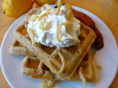 Gluten free dairy free lemon poppyseed waffles..