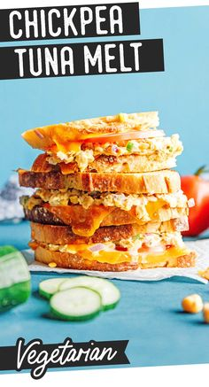 Treat yourself to a rich and savory lunch with a vegetarian Chickpea Tuna Melt recipe. This healthy lunch idea satisfies cravings, fills your belly, and fuels you all day! Perfect for the whole family or on the go. #vegetarian #lunch #chickpeas #sandwich #tunamelt Vegetarian Sandwich Recipes, Vegetarian Lunch, Lunch Recipes, Vegan Recipes, Dinner Recipes, Healthy Recipes On A Budget, Budget Meals, Clean Eating Recipes, Tuna Melt Recipe