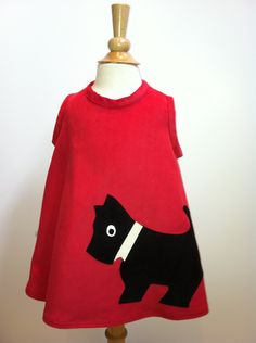 Scotty Dog Pinafore Dress by sastirosielife on Etsy Pinafore Dress, Scottie Dog, Buy And Sell, Sweatshirts, Cotton, Sweaters, Handmade, Etsy, Stuff To Buy