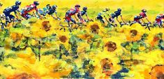 PAINTING LE TOUR: TDF 2016, rest day 1