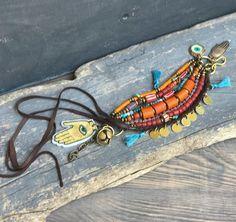 Hippie boho Ethnic multi strand bracelet Gypsy bracelet