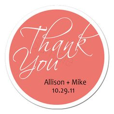 Custom Wedding Stickers  Thank You Personalized by partyINK