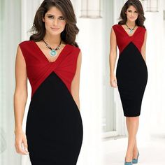Women Elegant Sexy V-neck Ruffle Ruched Sleevesless Party Work Fitted Stretch Slim Wiggle Pencil Bodycon One Piece Dress Suit - Herren- und Damenmode - Kleidung Casual Party Dresses, Office Dresses, Patchwork Dress, One Piece Dress, Summer Dresses For Women, Women's Fashion Dresses, Short Dresses, Dresses Dresses, Sleeveless Dresses
