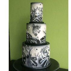 tattoo wedding cake wedding