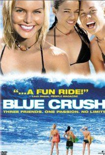 """240 Days of Romantic Films:Till Valentines:...BLUE CRUSH...is shot in Hawaii, has competition surfing and a killer soundtrack. But I'm not biased. LOVE STORY AD SURFBOARD  Formula Action Rom-Drama full of trashy cliche scenes. If you can get past that, then you might like this escape to a youthful lifestyle in paradise. Great surfing sequences. Warning: Big NFL lineman in Speedos! Not for the faint hearted. Quote: """"Somebody got to go to college, and it isn't going to be me."""""""