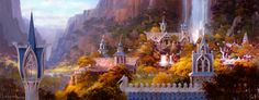 Lord Of The Rings: Rivendell by Paul Lasaine