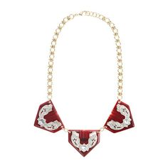 Lulu Frost for J.Crew Triple resin triangle necklace.
