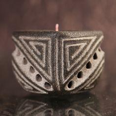 Lava Kerze / lava candle / Duftkerze Hellenische Architektur 2