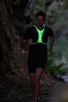 Stay safe and be seen in the can't-miss Amphipod Xinglet Optic Beam USB Rechargeable Vest. Clocking in at less than 3 ounces, this featherlight vest features bright optic beam 360-degree LED illumination. Reflective zones boost visibility while LEDs easily switch between solid and flashing mode. Running Accessories, Workout Accessories, Stay Safe, Beams, Usb, Bright, Swimwear, Fashion, Bathing Suits