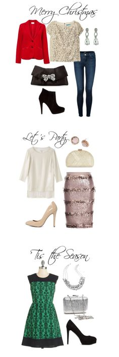 Holiday Party Outfits: Do you need some inspiration and ideas for what to wear to the Christmas party? Whether it's for work or with friends, here are some dressy outfit ideas for your Holiday get-together.