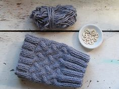 Ravelry: Stockinette Cable Boot Cuff pattern by Homespun Living