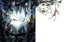 Justine Brax ilustra Mowgli, una adaptación de El libro de la selva de Rudyard Kipling realizada por Maxime Rovere. Rovere ha organizado y dado continuidad a los relatos y poemas que componen la obra de Kipling.  Edelvives presenta este álbum ilustrado como novedad en primavera de 2014.