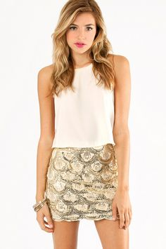 Scallops and Sequins Skirt ~ TOBI